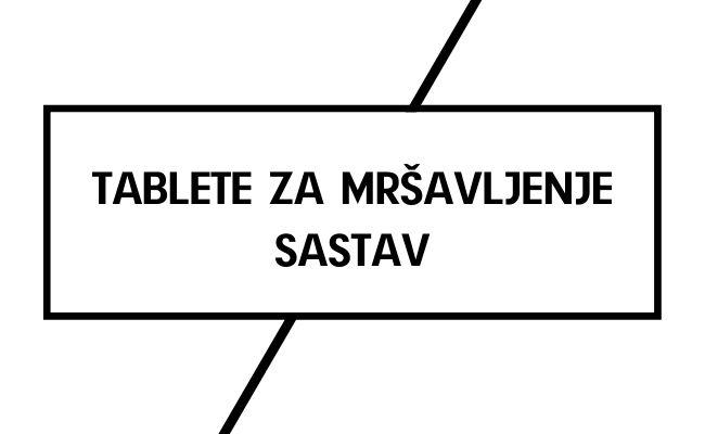Tablete – sastav